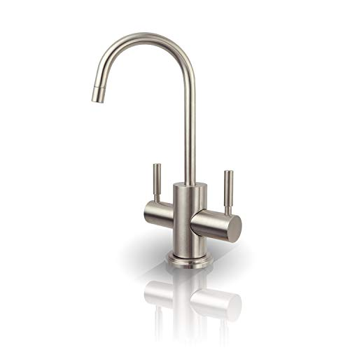 APEC Water Systems FAUCET-HC-WST-NP Instant Hot and Cold Reverse Osmosis Drinking Water Dispenser Faucet Brushed Nickel