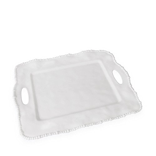 Beatriz Ball Alegria Rectangular Tray with Handles, White