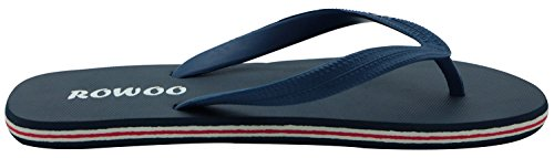 Blue Flip Rubber Flops Sandals Men's Beach Flat Dark 0POxHU