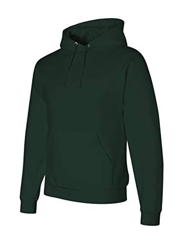 Jerzees mens 9.5 oz. 50/50 Super Sweats NuBlend Fleece Pullover Hood(4997)-FOREST GREEN-M