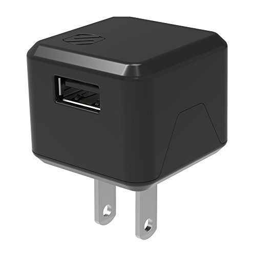 SCOSCHE USBH121 SuperCube Flip 12W Single USB Port Wall Charger for ALL USB Devices - Black