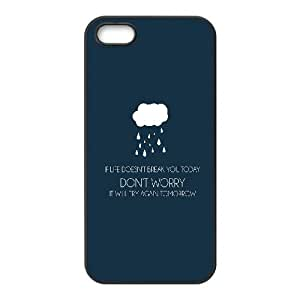 iPhone 5 5s Cell Phone Case Black Dont Worry SLI_772505