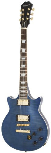 Epiphone EGGNMSGH3 Genesis Deluxe Pro Solid-Body Electric Guitar, Midnight Sapphire