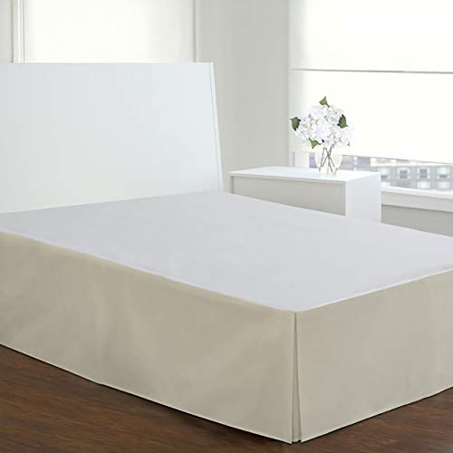 - TodaysHome Microfiber Bed Skirt Dust Ruffle Classic Tailored Styling 14