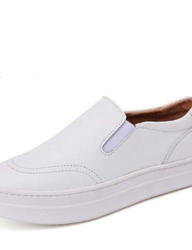Casual Scarpe Donna gyht Comoda pelle Piatto White Di ShangYi Bianco Mocassini Nero UOqInpU5