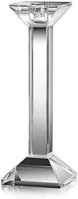 QIQIDEDIAN キャンドルホルダーロマンチックなキャンドルライトディナーテーブルローソク足家の装飾小さな装飾品透明クリスタル (Size : S)