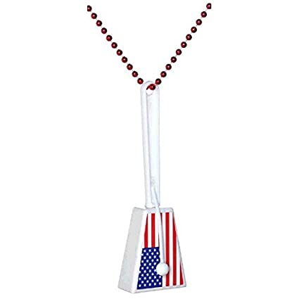 Image Unavailable. Image not available for. Color  Amscan Patriotic Fourth  of July American Flag Clacker Noisemaker Necklace ... b1a6e80a76fb