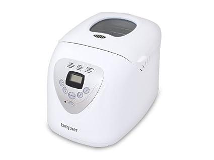 Beper 90.493A 493A-Maquina panificadora, ABS, Blanco
