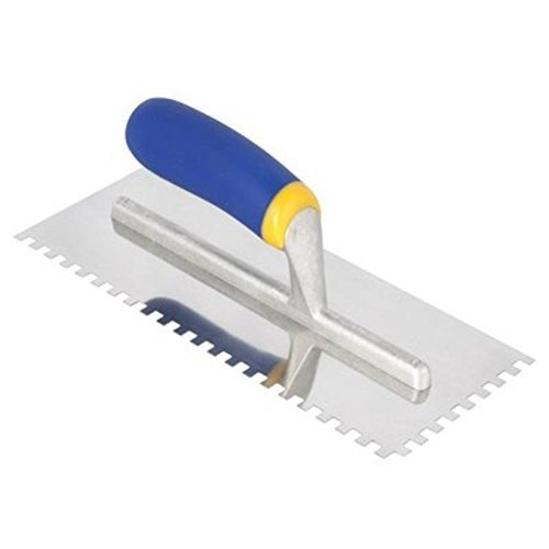 QEP 1/4in. Sq. Mega Grip Stainless Steel Notched Trowel by QEP