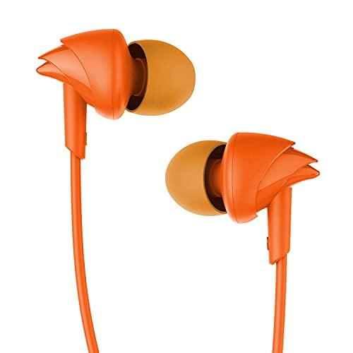 boAt Bassheads 100 in Ear Wired Earphones with Mic(Mint Orange)
