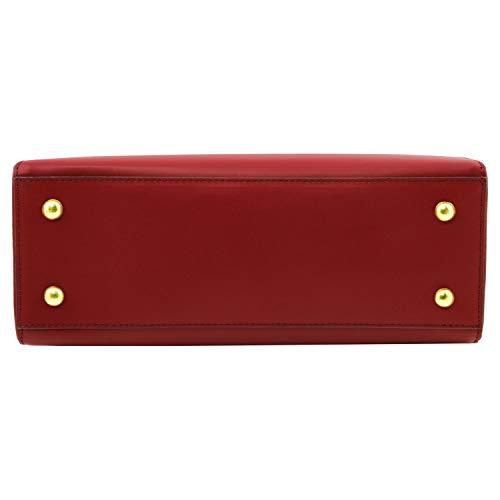 Tuscany a pelle in Nero Aura Rosso mano Borsa Leather qqrSxAF1U