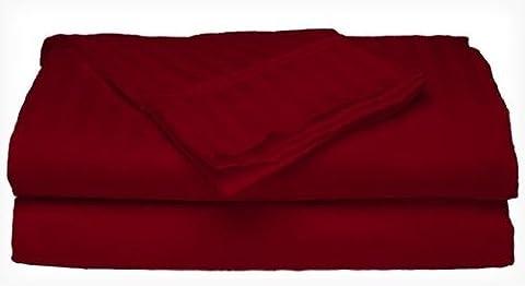 Full Size 400 Thread Count 100% Cotton Sateen Dobby Stripe Sheet Set -Burgundy - Cotton Stripe Sage
