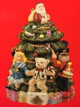 Spode Christmas Tree ''Toys Around The Tree'' Cookie Jar with Lid by Spode