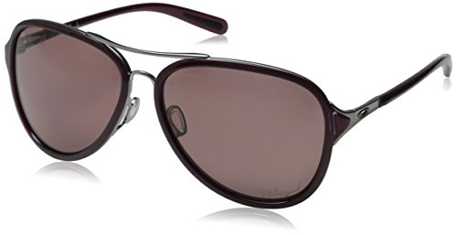 Oakley Women's Kickback OO4102-05 Polarized Aviator Sungl...