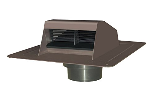 Canplas Duraflo 6011BR Exhaust Vent with Flap and ATT Col...