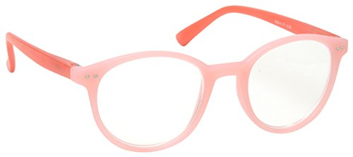The Reading Glasses Company Light Pink Red Matt Finish Lightweight Readers Designer Style Womens Ladies R25-4 - Red Glasses Designer
