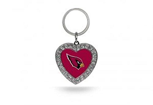 (Rico NFL Arizona Cardinals Rhinestone Heart)