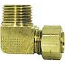 Imperial 91155 Compression Fitting Male Elbow With Captured Sleeve, Brass (Pack of 5)