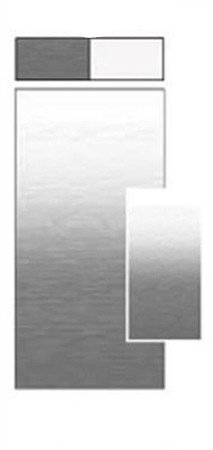 Carefree JU206D00 RV Awning Vinyl Fabric 20FT - Silver Shale Fade With White - Awnings Carefree Of Colorado