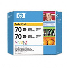 AIM Compatible Replacement - HP Compatible NO. 70 Photo Black Inkjet (2/PK-130 ML) (CB340A) - Generic 70 130ml Photo Black Ink