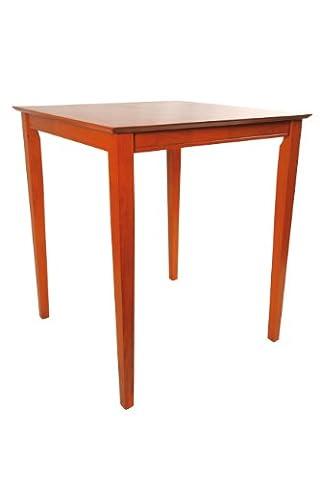 Boraam Square Wood Top Pub Table, 42-Inch, ES Cherry - Pub Table Dinette