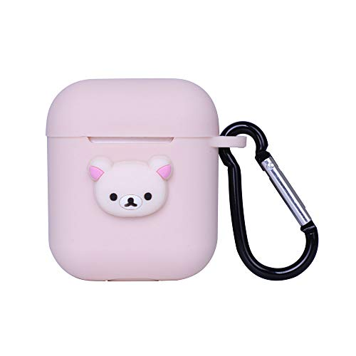 Airpods Case Cover Cute Cartoon Design with Keychain Protective Silicone Anti-Lost Dust-Proof & Shock Resistant