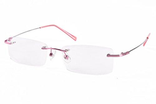 289f93940e Agstum Titanium Alloy Flexible Rimless Frame Prescription Eyeglasses - Buy  Online in Oman.
