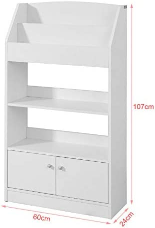 SoBuy® KMB11-W, Children Kids Bookcase Book Shelf Storage Display Shelving Cabinet Organizer
