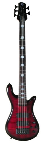 Spector ReBop5DLX FM Bass Guitar, Black Cherry