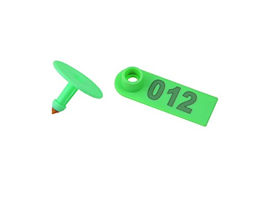 WMYCONGCONG 300 PCS 1-100 Number Plastic Livestock Ear Tag Animal Tag Blue and