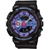 Casio G-Shock Purple Dial Black Resin Quartz Male Watch GMAS110HC-1A