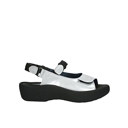 Wolky Womens 3204 Jewel Leather Sandals gris - 620 grau lackleder