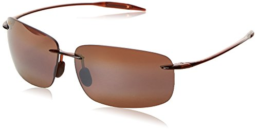 Maui Jim Breakwall H422-26 Polarized Square Sunglasses,Rootbeer Frame/HCL Bronze Lens,One - Sunglasses Maui Jim