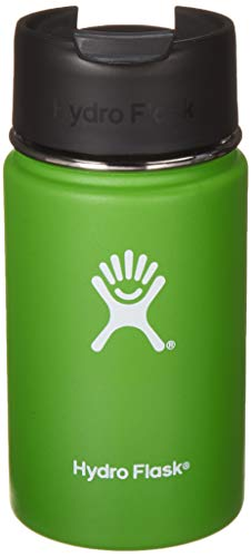 Hydro Flask 12 oz Travel Coffee Flask | Stainless Steel & Vacuum Insulated | Wide Mouth with Hydro Flip Cap | Kiwi