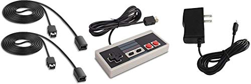 NES Mini Classic Edition Accessory Bundle from TheKidMall - 1 Controller, 1 Power Supply, 2 Long 6ft Extension Cables (NES System Sold Separately)