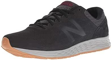 New Balance Men's Arishi V1 Fresh Foam Running Shoe Black/Magnet/Nubuck Burgundy 7 4E US