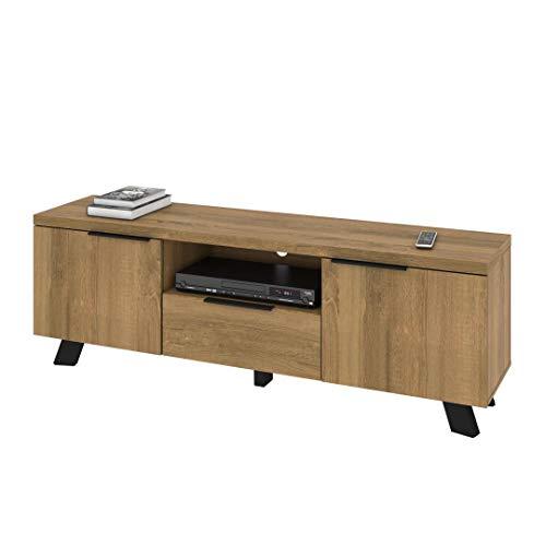 - Bestar 103161-000005 Auva TV Stand, Maple Brown