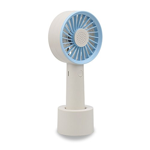 WPPOWER Rechargeable Water Misting Fan Personal Cooling Fan With Soft Wind and Ultra-quiet 2000mAH Li Battery Air Ventilador Air Cooler Conditioning For Home Outdoor Travel Use(Blue)