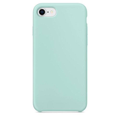 iPhone 8 Case, iPhone 7 Case,LINDIANSHUMA Liquid Silicone Gel Rubber Case with Soft Microfiber Cloth Lining Cushion for Apple iPhone 8 (2017)/iPhone 7 (2016),Marine (Marine Phone)