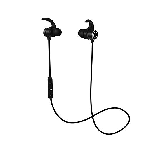 Bluetooth Headphones,Sport Wireless Earphones Bluetooth 4.2 Magnetic Noise Cancel Earbuds with Mic Sweatproof in-Ear Wireless Headphones 6 Hours Working Time