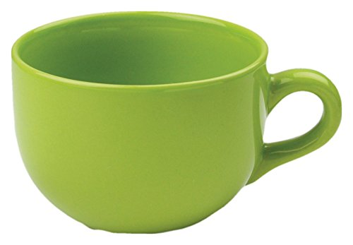 Jumbo Coffee Cup - 24 ounce Extra Large Latte Coffee Mug Cup or Soup Bowl with Handle - Green Citron