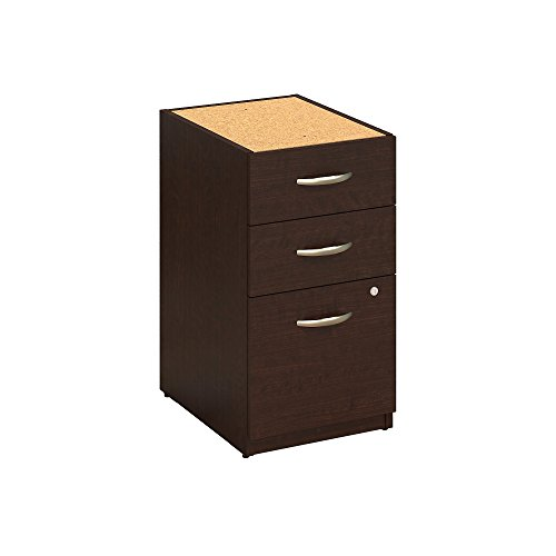 Bush Business Furniture Series C Elite 16W 3 Drawer Pedestal in Mocha Cherry