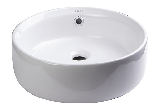 EAGO BA129 16-Inch  Round Ceramic Above Mount Bathroom Basin