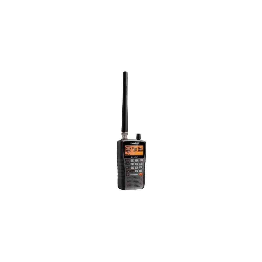 Uniden Bearcat BC125AT Handheld Scanner, 500 Alpha Tagged channels, Public Safety, Police, Fire, Emergency, Marine, Military Aircraft, and Auto Racing Scanner, Lightweight Portable Design