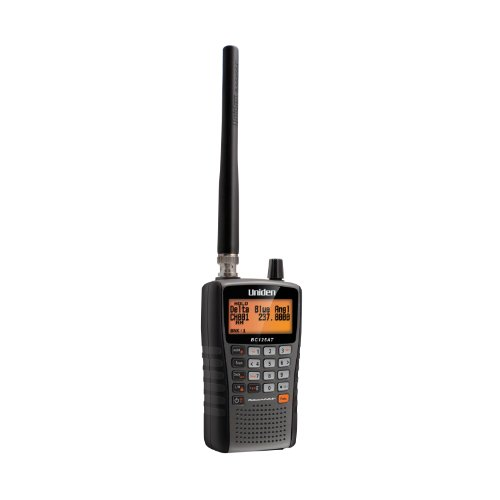 Uniden Bearcat BC125AT Handheld Scanner. 500 Alpha-Tagged channels. Public Safety, Police, Fire, Emergency, Marine, Military Aircraft, and Auto Racing Scanner.  Lightweight, Portable Design. ()