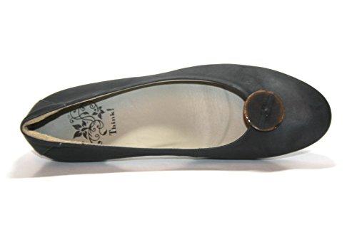 Think Nola 80170 - Zapatos de tacón de cuero para mujer Negro (Nero)