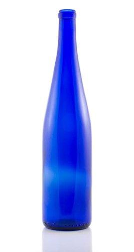 750 ML Cobalt Blue Hock Bottle (single)