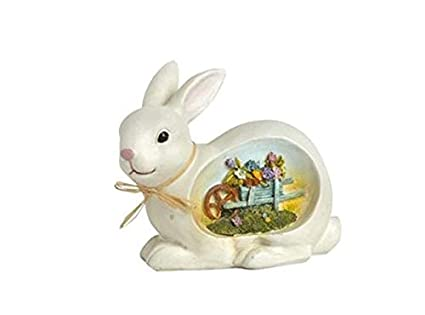 Outstanding Amazon Com Northeast Home Goods White Easter Bunny With Download Free Architecture Designs Scobabritishbridgeorg