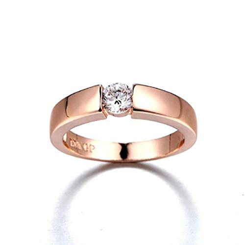 TOPOB Women's Rings, 2019 New Shining Diamond Ring Engagement Wedding Band Ring Jewelry Gift (Rose Gold-c, 9)