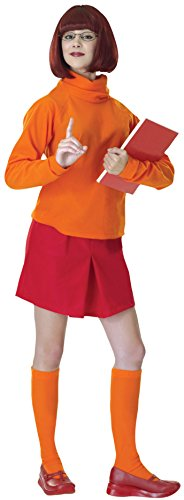 Velma For Costumes Halloween (Standard Velma Costume - Adult Scooby Doo)